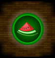 fresh ripe watermelon icon vector image vector image
