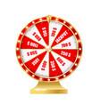 golden wheel fortune 3d realistic vector image
