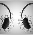 half headphones with musica vector image vector image