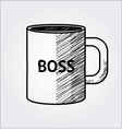 hand drawn coffee cup vector image
