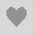 heart icon grey vector image