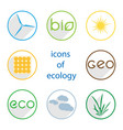 icons of ecology vector image vector image