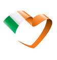 ireland flag on a white vector image vector image