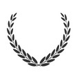 laurel wreath isolated on white vector image vector image