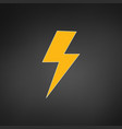lightning electric power logo design element vector image vector image