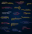 line futuristic callouts vector image