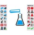 Liquid Transfusion Icon vector image vector image