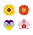 logo set of graphic flower elements vector image vector image