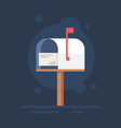 mailbox flat notification icon vector image vector image