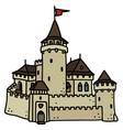 Old stone castle vector image
