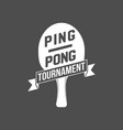 ping pong emblems labels badges and designed vector image