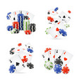 realistic detailed 3d casino set vector image vector image