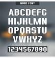 Sans serif font Nord vector image vector image