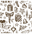 seamless pattern christmas gifts for children vector image vector image