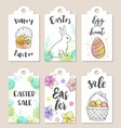 set easter tags vector image vector image