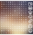 set icons for web and user interface design vector image vector image