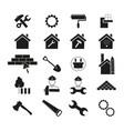 set of improvement repair icons black vector image vector image