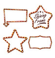 star set billboard shining star sign board vector image vector image