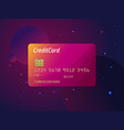 templates of credit cards design plastic vector image vector image