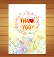 Thanksgiving card Watercolor flower background vector image vector image