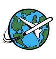 traveling a plane icon cartoon vector image