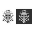 vintage mexican day dead emblem vector image