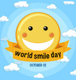 world smile day banner vector image vector image