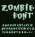 Zombie font Bones and brains Living dead alphabet