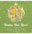 Card with Intricate Christmas Tree Ball vector image
