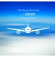 Airplane on a blue sky background vector image
