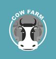 Cow farm logo Head of a cow Emblem sign for farm vector image