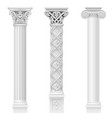 set of classical columns vector image