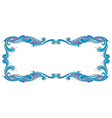A blue and violet border vector image