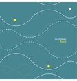 Abstract background of dotted lines and balls vector image