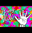 abstract colorful Happy Holi background vector image