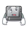 afraid button r in mascot shape