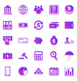 banking gradient icons on white background vector image