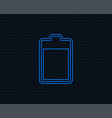 battery level sign icon electricity symbol vector image