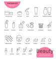beauty accessories icons set and makeup symbols vector image