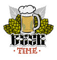 beer time hand drawn design for t shirt print vector image vector image