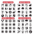 big set of icons vector image