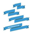 blue web ribbon banners set vector image