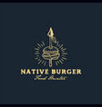 burger spear vector image vector image