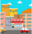 Cars on road in the city vector image vector image