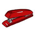 cartoon image of stapler vector image