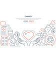 charity - modern line design style web banner vector image vector image