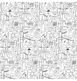 Chemistry doodle seamless pattern vector image vector image