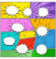 comic elements composition vector image vector image