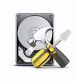 computer repairing service concept vector image vector image
