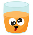crazy orange juice on white background vector image vector image